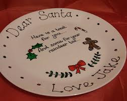 reindeer treat plate etsy