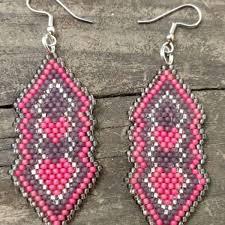 pink drop earrings pink drop earrings nativeworksjewelry