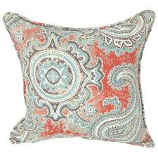 Blue Outdoor Cushions Rust U0026 Blue Paisley Outdoor Pillow At Home At Home