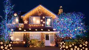 homeowners light up their houses for best outdoor