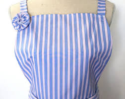 blue apron dress etsy