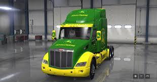 peterbilt truck dealer peterbilt 579 truck john deere skin american truck simulator mod
