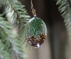 pine tree resin pendant