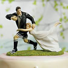 football wedding cake toppers a match rugby wedding cake topper football
