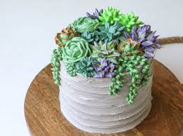 How To Make A Succulent Planter Succulent Cake Buttercream Piping Tutorial