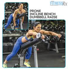 Bench Exercises With Dumbbells Shoulder On With Ifbb Pro Candice Keene Prone Incline Bench