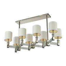impressive contemporary rectangular chandelier rectangular