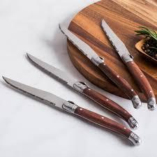 ksp forge steak knife with wood handle set of 4 kitchen stuff plus