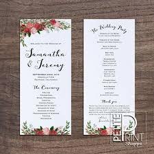 how to do a wedding program beautiful diy wedding program templates ideas styles ideas