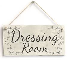 dressing room handmade country style wooden home decor door sign