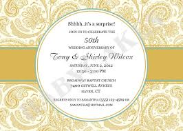 anniversary invitations 50 wedding anniversary invitation