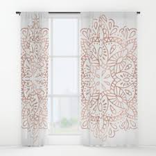 Gold Shimmer Curtains Gold Faux Glitter Pink Ombre Color Block Window Curtains By