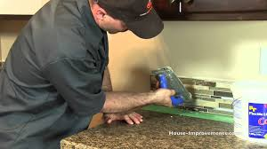 How To Install Glass Mosaic Tile Backsplash In Kitchen How To Grout A Mosaic Tile Backsplash Youtube