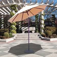 Galtech Replacement Canopy by Galtech 7 5 Ft Aluminum Patio Umbrella With Crank Lift And Deluxe