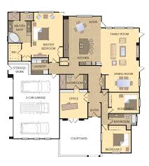 floor plans with courtyard courtyard 2845 home designs in kings county g j gardner homes