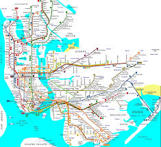 New York Mta Subway Map by Detailed Map Of Nyc Metro Mtr New York Detailed Subway Map