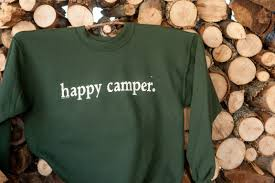 happy camper one on 1 design screen printing t shirts and