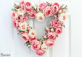 heart wreath heart wreath diy tutorial with blooms darice