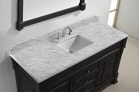 bathroom vanity tops with square sink virtu usa huntshire 60 inch