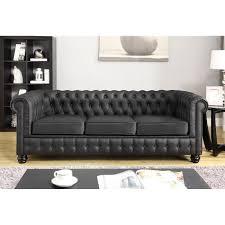 canapé cuir noir 3 places mobilier achat et vente neuf ou d occasion domdiscounter