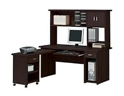 amazon com espresso finish home office computer desk with hutch