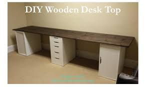 Diy Wood Desk A And Some Paint Diy Wooden Desk Top