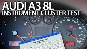 audi a3 dashboard audi a3 8l test instrument cluster outputs vcds car diagnsotics