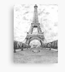 eiffel tower drawing canvas prints redbubble