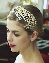 grecian headband vintage 20 s gold leaf headdress headband hair crown grecian