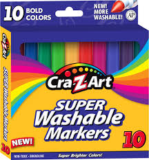 bold colors 10 cra z art bold washable broadline markers for only 0 50