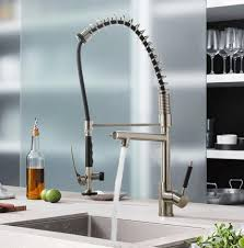 Kitchen Faucet Stainless Steel Luxice Commercial Solid Brass Single Handle High Arc Deck Mounted
