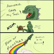 Godzilla Meme - godzilla grab my tail meme by sellena hikari on deviantart