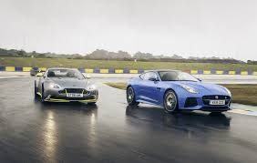cambered smart car aston martin vantage gt8 vs jaguar f type svr twin test review