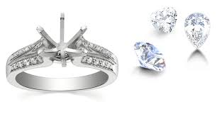 make your own engagement ring gold demo diamonds