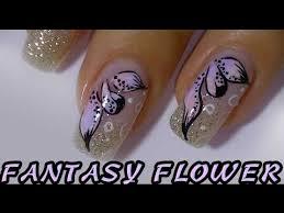 gradient colored petals simple flower nail art design youtube