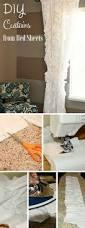 diy home decor crafts blog best 25 bed sheet curtains ideas on pinterest short curtains