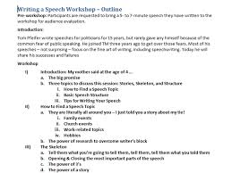 outline speech initial thoughts