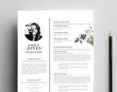 Resume Templates In Word Format Resume Template With Photo Professional Modern Cv Word Mac