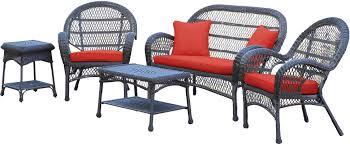Poolside Seat Cushion Jeco Inc Santa Maria Wicker Conversation 5 Piece Seating Group