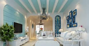 modern white nuance of the modern mediterranean interior design