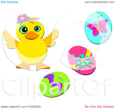 clipart pink easter bunny and colorful jelly bean frame royalty