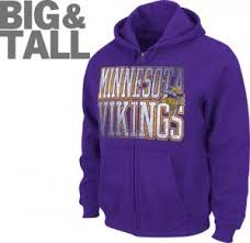 minnesota vikings big tall plus size sportswear t shirt hoodie