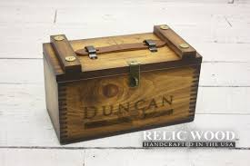 personalized wooden boxes laser engraved shooters box
