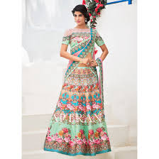aloe vera green color lehenga choli sku no dfz5094 77605