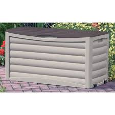 suncast 41 in 50 gallon resin deck box with seat db5500 hayneedle