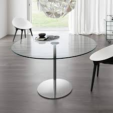farniente round glass and metal dining table by tonelli klarity