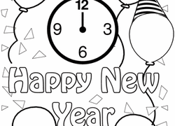 happy new year preschool coloring pages preschool new year worksheets free printables education com