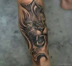 angry on leg designs pictures