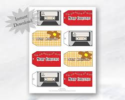 stranger things christmas gift tags printable holiday gift labels