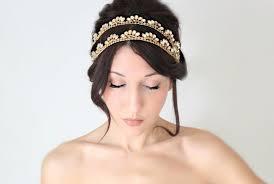 gold headband band gold bridal headband